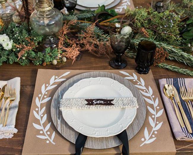 Faire Individuel Decoration De Noel Pour Table