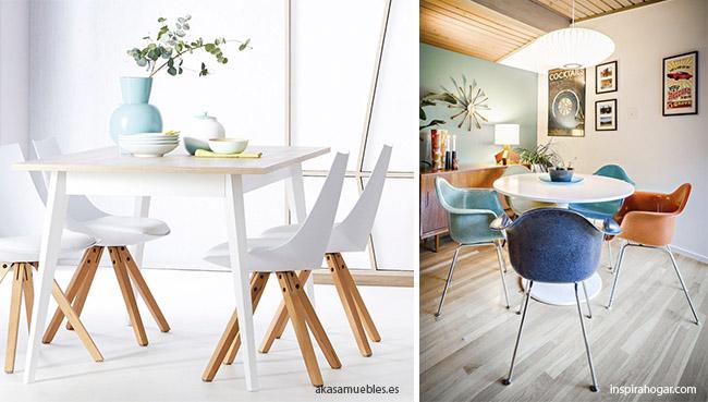 las sillas son importantes en la decoración de un comedor